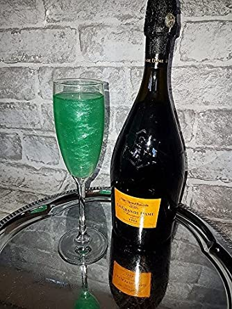 Christmas Alcoholic Drinks.Green Sparkly Drinks Dust Prosecco Shimmer Christmas Gift