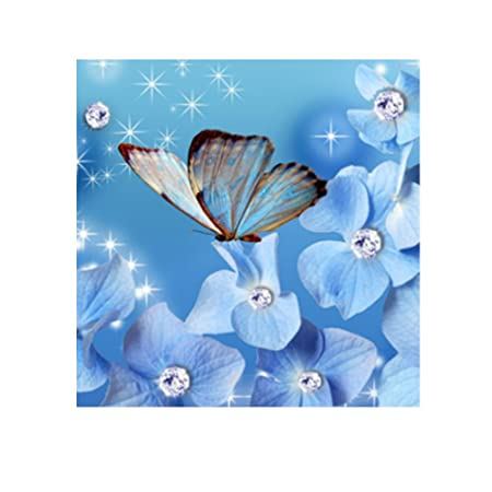 Healifty 5D Pittura Diamante Kit Fiore Punto a Croce Diamante Kit
