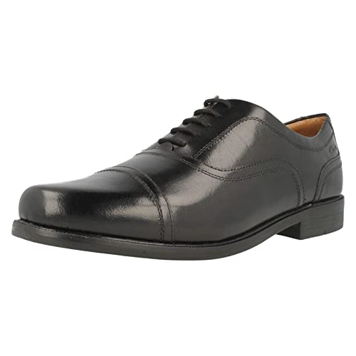 Clarks Tilden Walk, Zapatos de Cuero para Hombre, Negro (Black Leather), 41.5