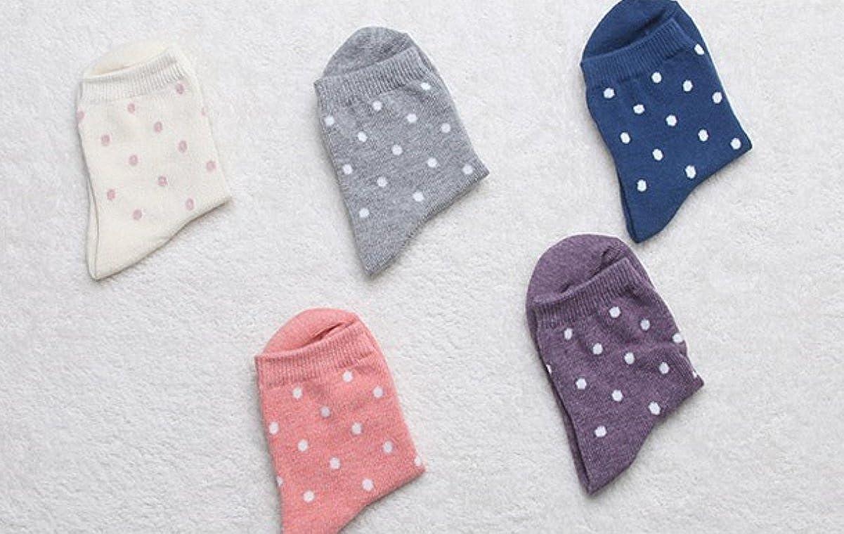 5-Pack set for 1-3 Year Baby Anti Slip Polka dots Baby Socks