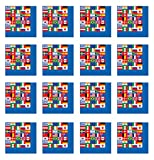 International Flag Luncheon Napkins (2-Ply)    (16/Pkg)
