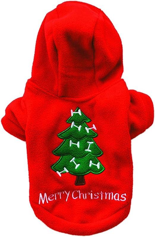 Westeng Ropa para Mascotas de Navidad Arbol de Navidad Ropa de ...