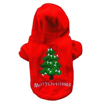 LAAT Chaleco con Capucha de Perro Chaleco de Invierno para Mascotas Ropa de Navidad para el