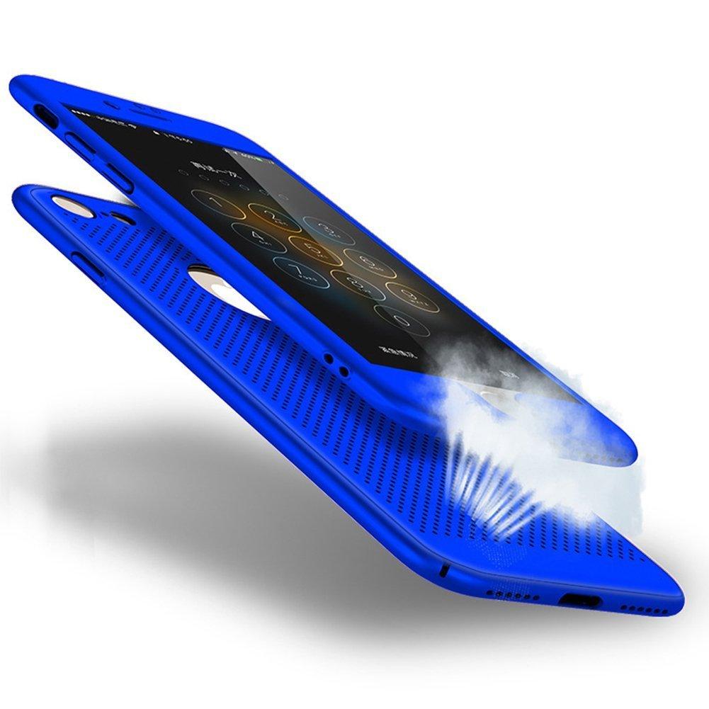 Coque iPhone 8, Étui Housse pour iPhone 7, Ysimee Ultra Rigide Léger PC 360 degrés Protection Complète avec Film d'acier Coque pour téléphone pour Apple iPhone 8 / iPhone 7 Étui de protection Couverture Anti Scratch Anti poussière et Shockproof Caoutchouc