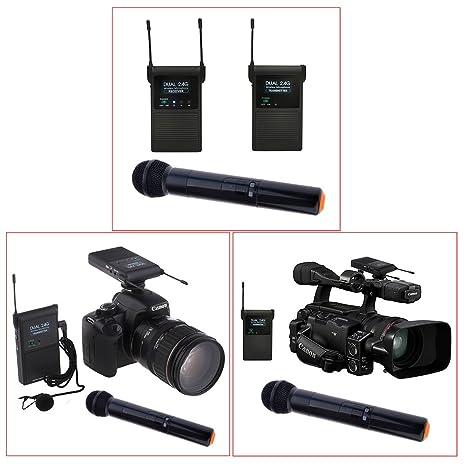 Neewer? Soporte para cámara Dual Channel 2,4 gHz inalámbrico clip ...