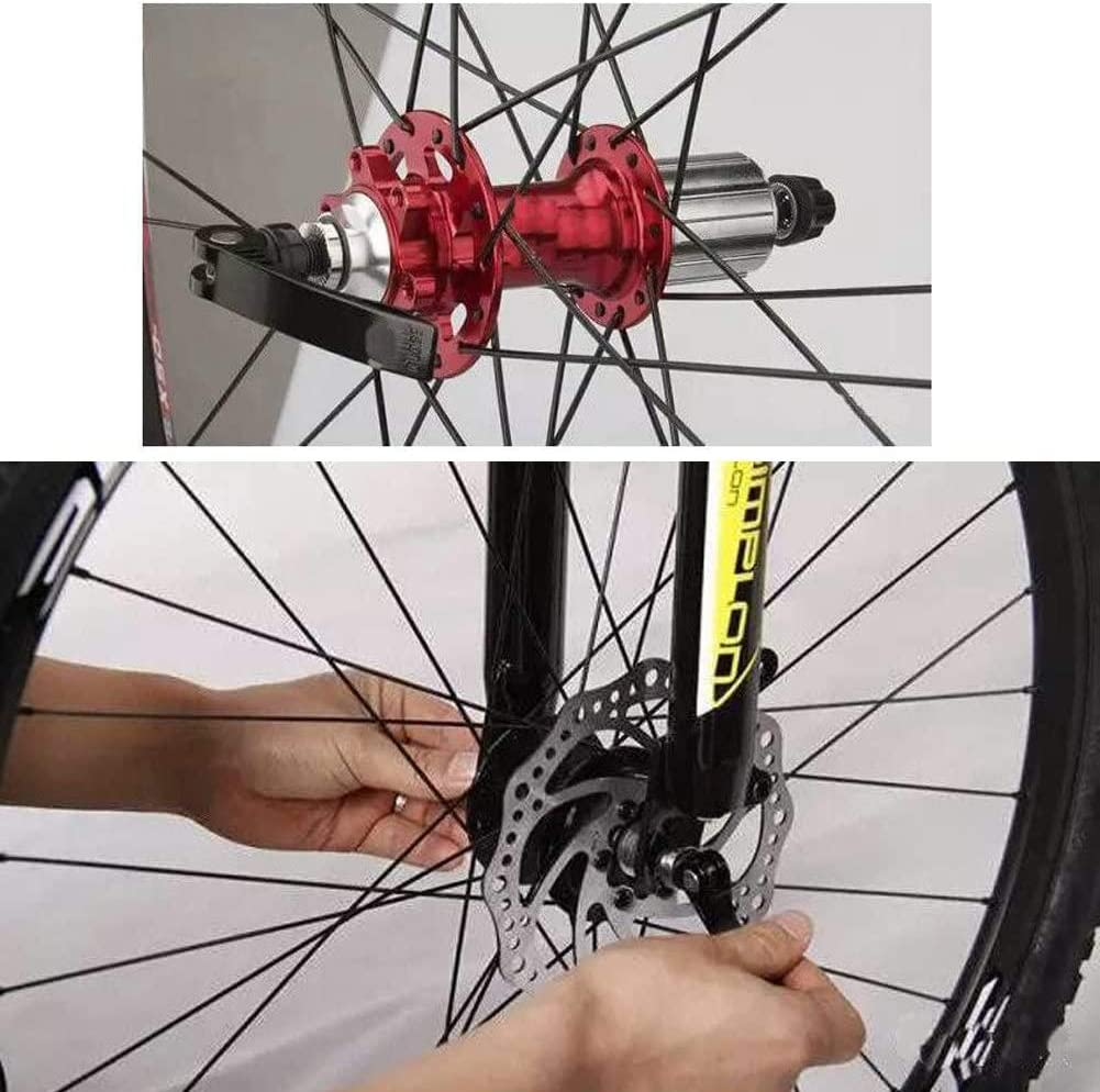 Wheel Hub Front and Rear Bicycle Hollow Shaft Skewer Fit for MTB Road Bicycle 1 Pair ZUZZEE Bike Axle Quick Release Skewer
