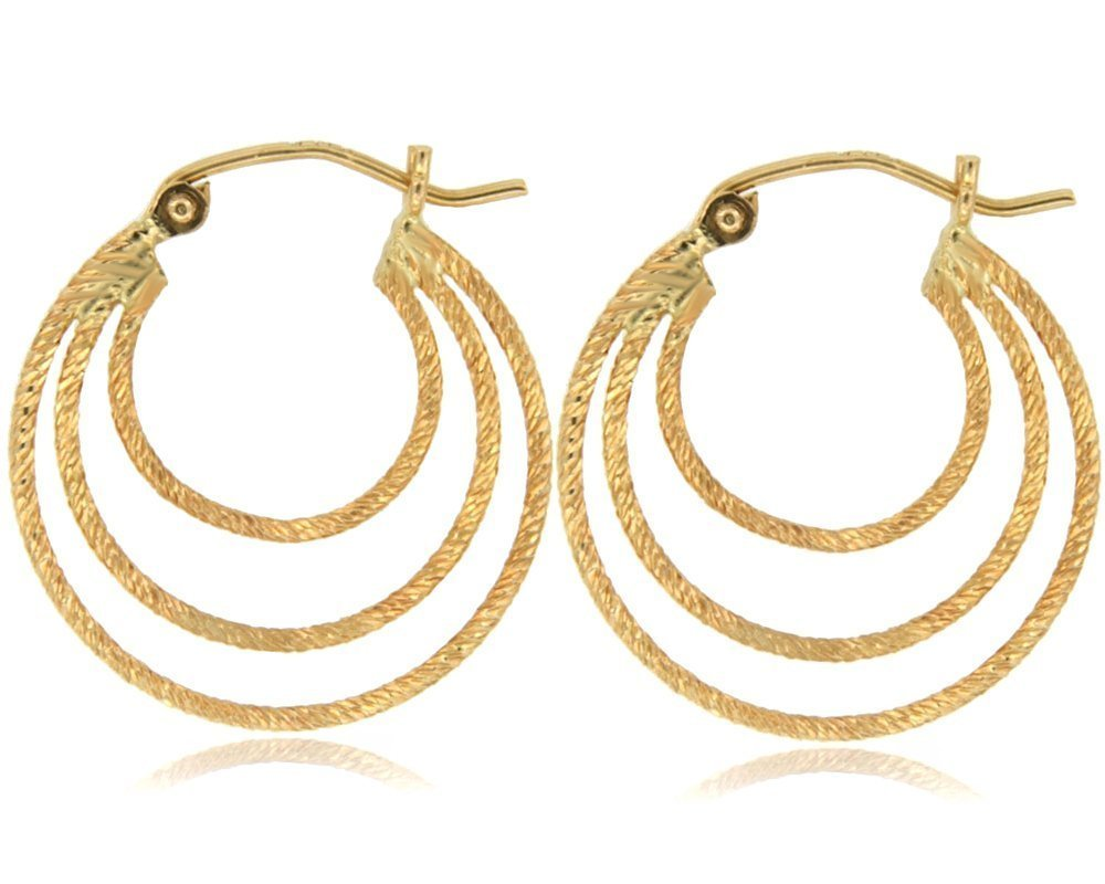 Balluccitoosi Yellow Tube Earring - 14k Gold Earring for Women and Girls - Unique Jewelry for Everyday