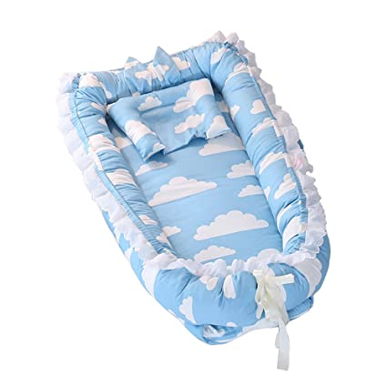 Nido de Bebé, T-MIX Cuna de Bebé Newborn 0-24 Months Cribs Regalo Bienvenida - High Elasticity Pearl Cotton / Super Soft / Breathable / Portable / ...