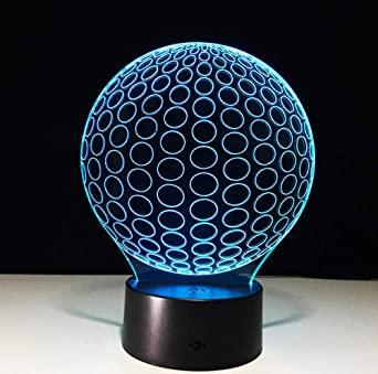 ZJFHL 3D LED atmósfera de humor luz de la noche Pelota Lampara de ...