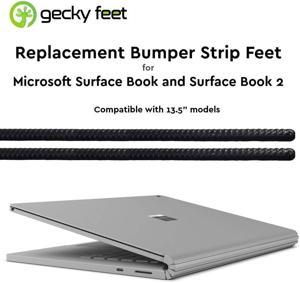 Microsoft Surface Book Replacement Bumper Strip feet by Gecky Feet (Extra Grip Black)
