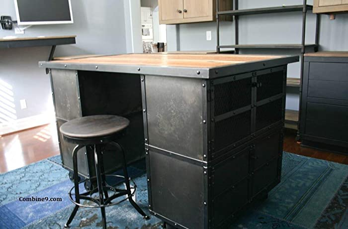 amazon com kitchen island work station industrial kitchen cart rh amazon com