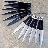 New 12 Pc 6'' Ninja Tactical Combat Naruto Kunai Throwing EcoGift Nice Knife with Sharp Blade Set w/ Sheath Hunting- Great For Fun And Practical Use