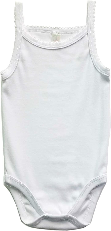 B-One Kids Baby Girls 100/% Cotton Super Soft Camisole Onesies 4-Pack