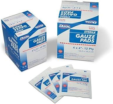 Cramer pastillas de gasa, 100% tejido de algodón, estéril, de gasa ...