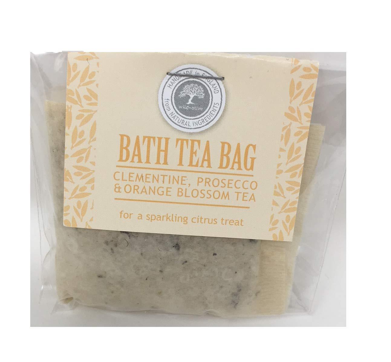 Clementine Prosecco and Orange Blossom Tea Festive Bath Tea Bag Wild Olive