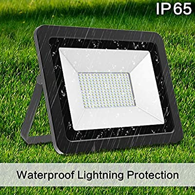 LED Flood Light 200W, 20000LM 6000K IP66 Waterproof Indoor Outdoor LED Security Lights Wall Lights for Cell, Lascape, Parking lot, Garden, Basketball Football Playground Commercial Lighting(200 Watt)