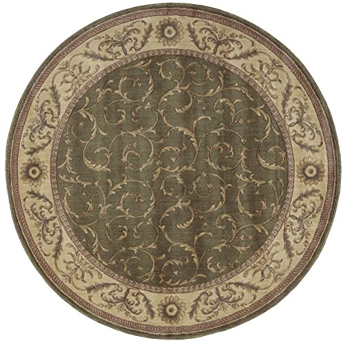 Rug Squared Fenwick Traditional Round Ru - Round Cowhide Rugs Shopping Results