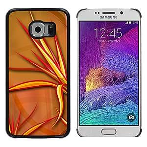 Stuss Case / Funda Carcasa protectora - Red Evil Spikes - Samsung Galaxy S6 EDGE