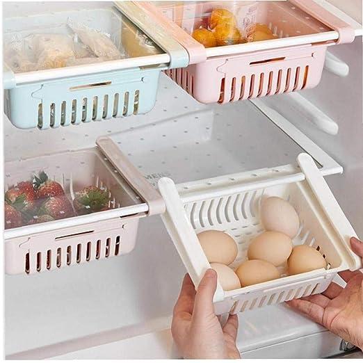 Ajustable Estirable refrigerador de Cocina de Almacenamiento en ...