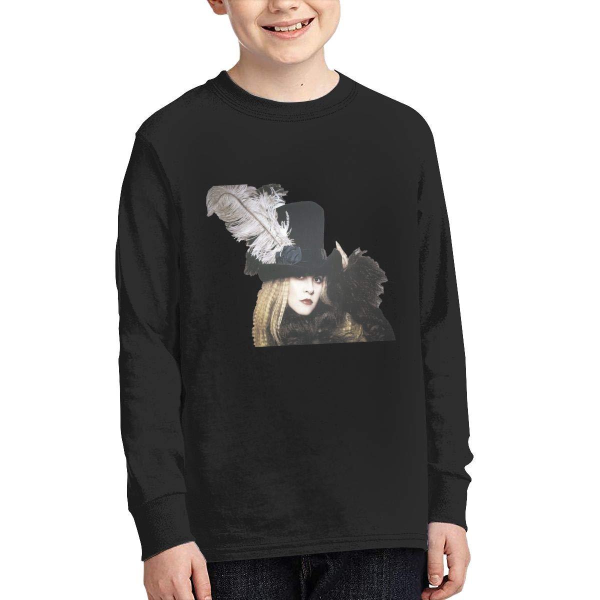 RhteGui Stevie Nicks Bella Donna Boys /& Girls Junior Vintage Long Sleeve T-Shirt Black