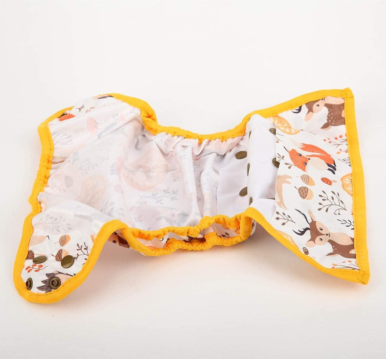One Size Cloth Diaper Cover Snap With Double Gusset Fox Forest