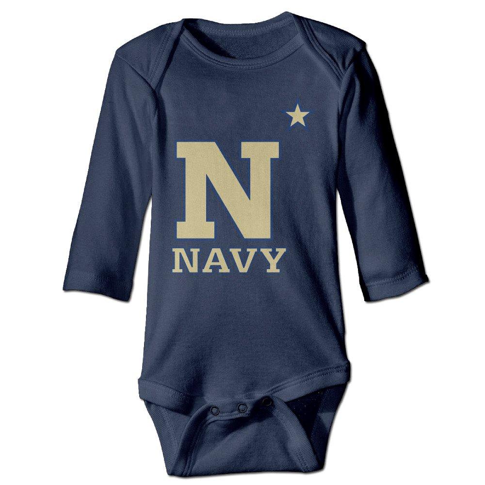 YTRY United States Naval Academy Athletics Babys Long Sleeve Bodysuit Onesie Navy