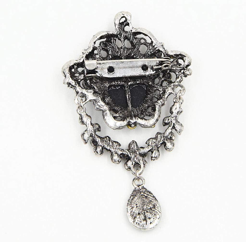 ZOUCY Lady Vintage Cameo Victorian Style Wedding Party Pendente Spilla Pin Regalo