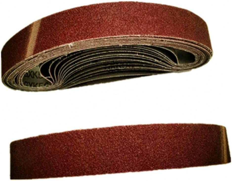 KJKJ Sanding Paper 10pcs 533 * 30mm Sanding Belt 40-1000 Abrasive Band Sanding Screen Belt Sanding Polisher Paper 80