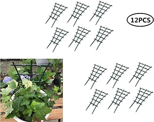 Enrejado para plantas de jardín, mini maceta de jardín, soporte ...