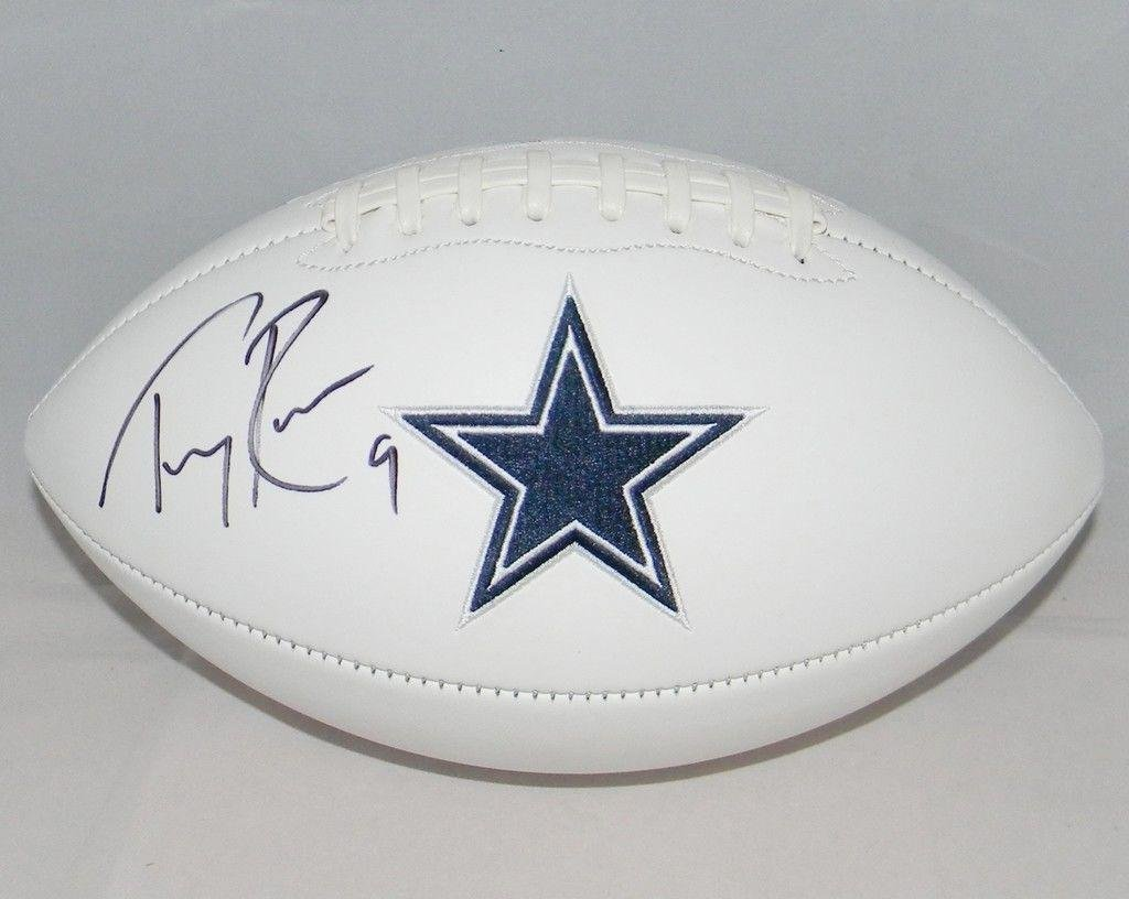 Tony Romo Signed Ball - White Logo - JSA Certified - Autographed Footballs Sports Memorabilia