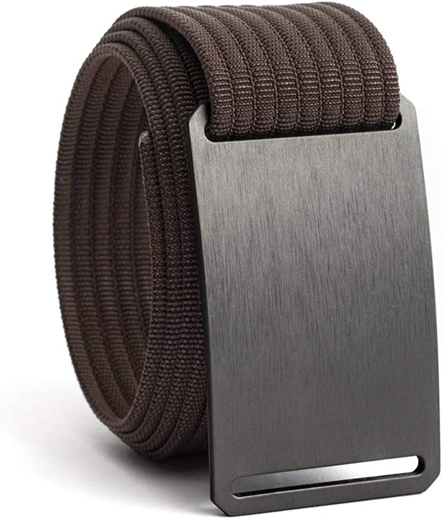 GRIP6 Web Belts for Men - Nylon Belt- Fully Adjustable Casual Belt Strap & Belt Buckle