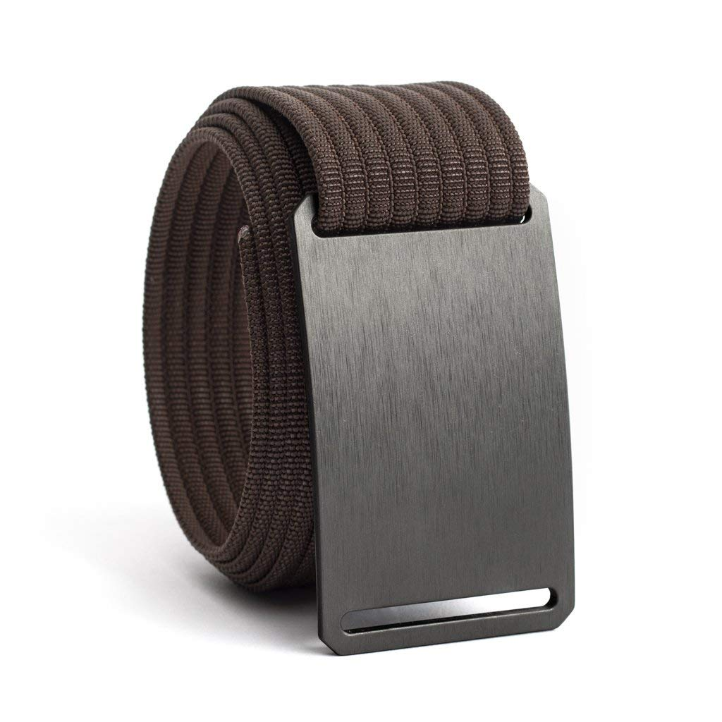 Men's Web Belt GRIP6 (34in Gunmetal w/Mocha Strap)