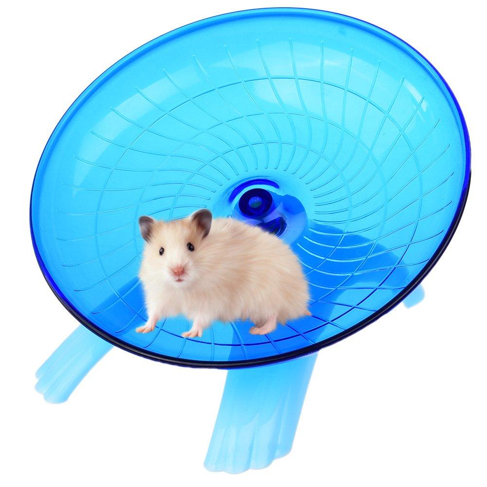Petacc Roue Hamster Silencieux Roue d'Exercice pour Hamster Stable, Diamètre 18cm (Bleu)