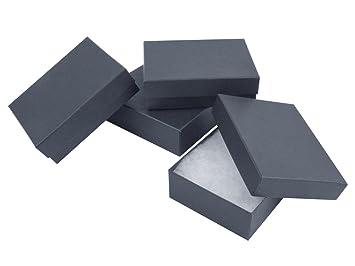 Conjunto de 4 cajas pequeñas de cartón, color negro, para presentación de joyas - (994 020X): Amazon.es: Bricolaje y herramientas