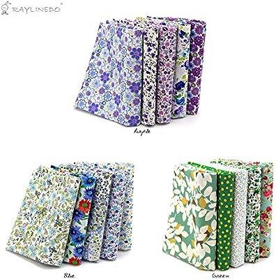 Misscrafts Cotton Fabric Squares Sheets 45cm*55cm 18 x 22 7 patterns