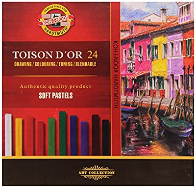 KOH-I-NOOR TOISON D'OR 8584 Artist's Soft Pastels (Pack of 24)