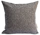 Decorative Pillow Cover - TangDepot Heavy Lined Linen Cushion Cover, Throw Pillow Cover, Square Decorative Pillow Covers, Indoor/Outdoor Pillows Shells - (12
