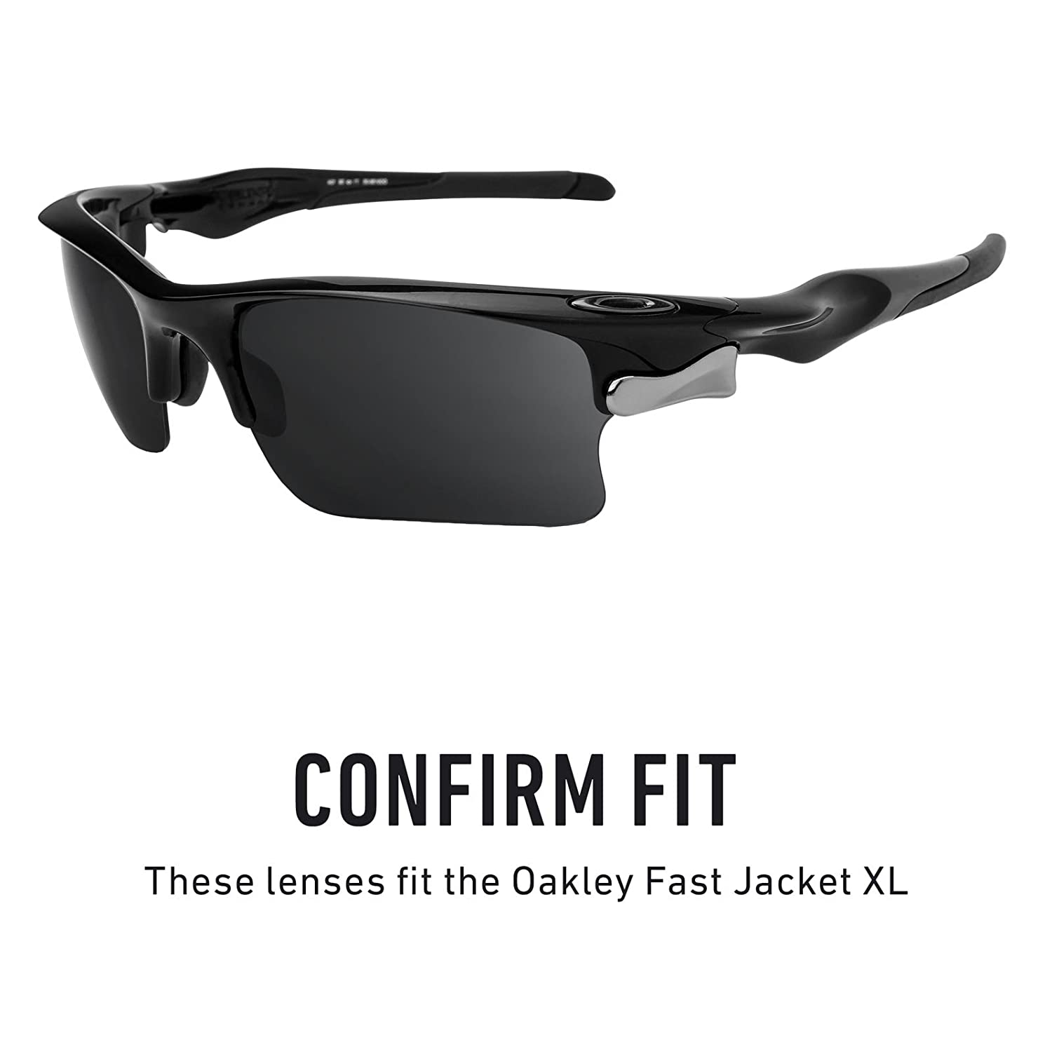 936f39dca3 Amazon.com  Revant Polarized Replacement Lenses for Oakley Fast Jacket XL  Elite Black Chrome MirrorShield  Sports   Outdoors