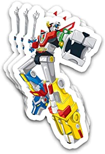 Kimlosk Voltrons Legendary Defenderr Animated TV Series Golion Look Side Posing Fan Arts Stickers for Laptops Tumblers Books Luggages Cases Pack 3x4 in Vinyl 3pcs/Pack