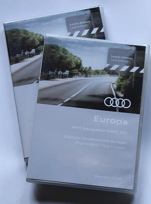 MMI 2G  Navigation Europa 2018-DVD1+DVD2, AUDI