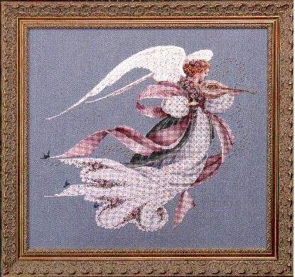 Cross Lace Stitch - Lavender & Lace - Angel of Spring - Victorian Counted Cross Stitch Pattern (L&L 23)
