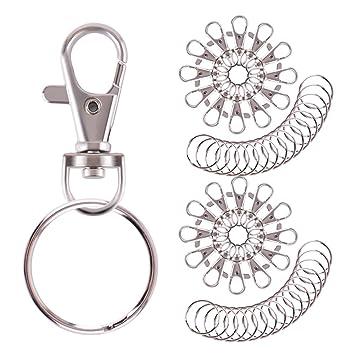 Amazon.com: WXJ13 cierres giratorios y anillos para llaveros ...