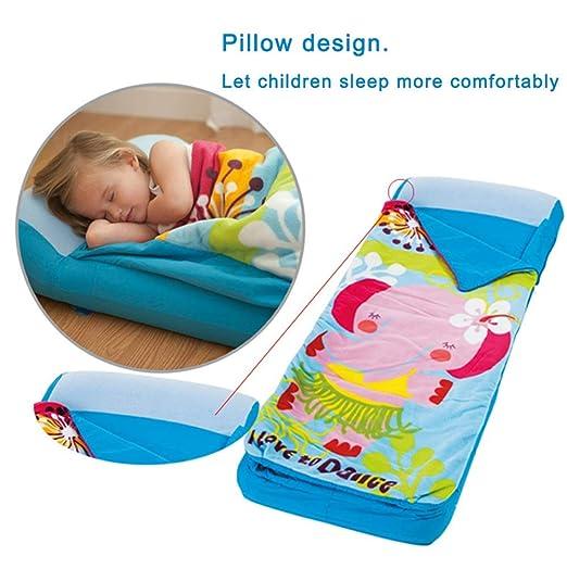 Amazon.com: LLVV cama de aire para niños con saco de dormir ...