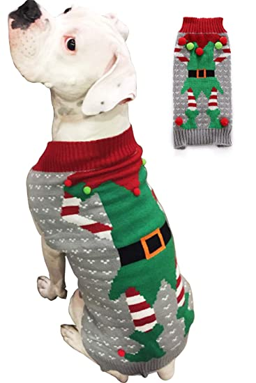 BOBIBI Dog Sweater Christmas Pet Cat Winter Knitwear Warm Clothes
