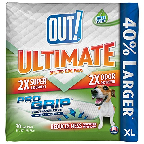 OUT! Ultimate Pro-Grip XL Dog and Puppy Pads, Extra Large - 30-Count