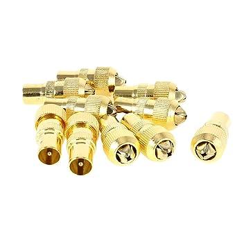 10 piezas antena de RF TELEVISIÓN POR Cable TV FM Cable Coaxial PAL Conector Macho Adaptador