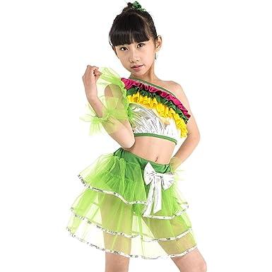 e84794cac7b8 KINDOYO Girls Kids Modern Dance Costumes Performance Dresses Off ...