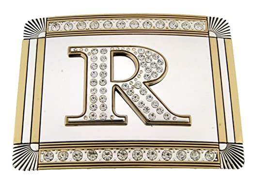 Amazon Com Initial Letters R Western Style Cowboy Rodeo Golden