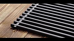 Webbers Tapis de Gril pour Gril /à gaz Gril /à Charbon Gril /électrique Ensemble de 3 Tapis de Gril en t/éflon 40x50 Noir
