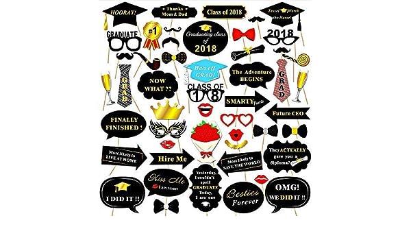 Graduation Photo Booth Props 50 piezas Kit de bricolaje para ...